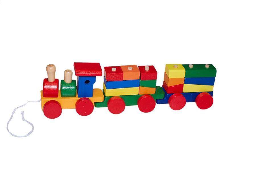 Trenino vendita all ingrosso di giocattoli in legno - Trenino di legno ikea ...